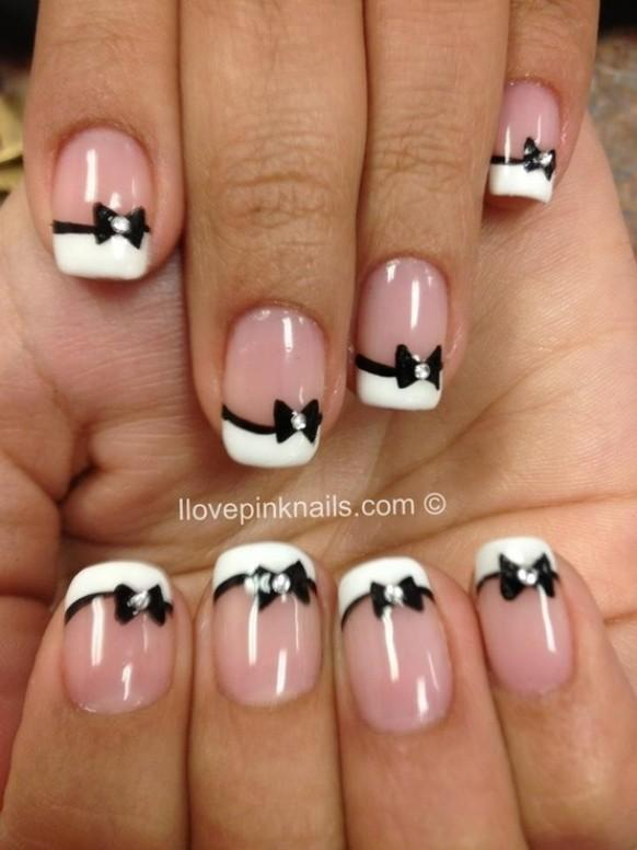 Black and white wedding unique french manicure 1122179 weddbook prinsesfo Gallery
