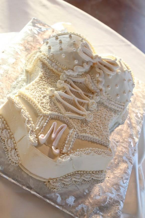 Wedding Bridal Shower Or Bachelorette Party Cake Ideas ♥ White Lace Lingerie Bachelorette Party ...