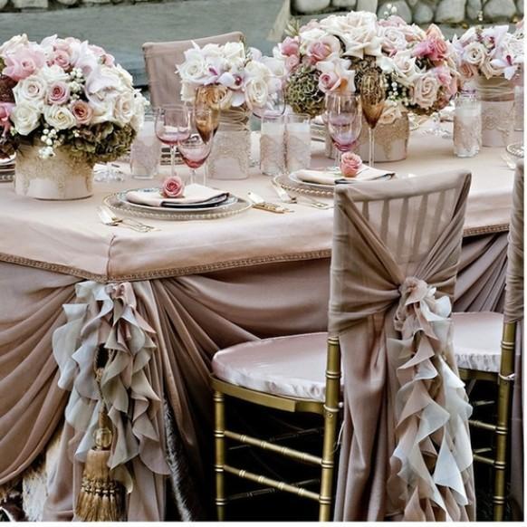 Pale Pink Ruffled Wedding Table Design ♥ Dream Wedding ...