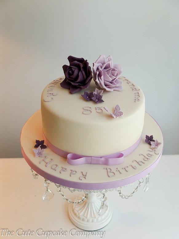 Wedding Cakes Lilac And Mauve Birthday Cake 3 1987946