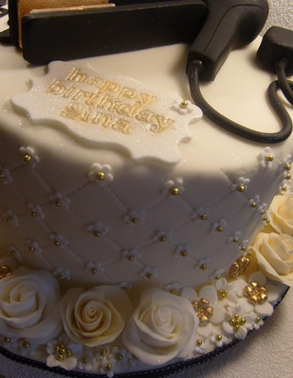Wedding Cakes 50th Birthday Cake For A Hairdresser 1987994 Weddbook