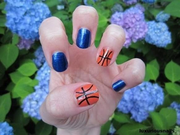 Cute Basketball Nail Art Tutorial - Wedding Nail Designs - Cute Basketball Nail Art Tutorial #1989036