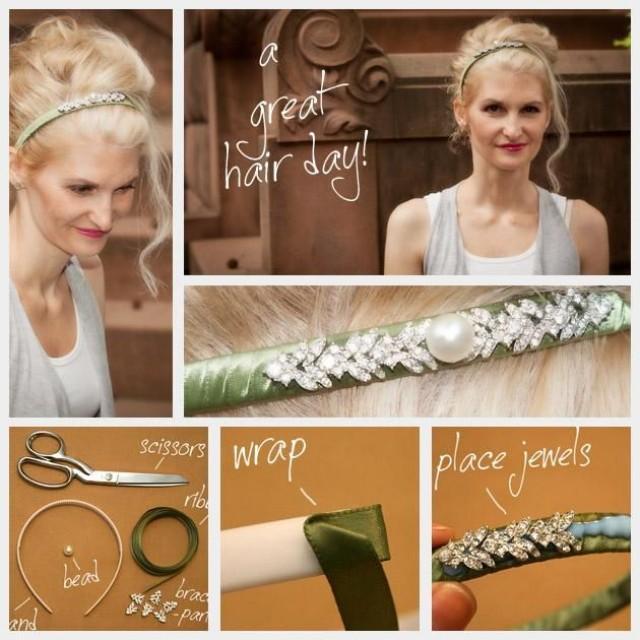 Wedding Hairstyles Diy: DIY Headband DIY Hair Accessories