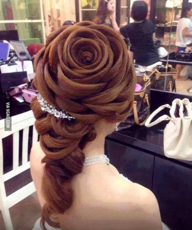 Wedding Hairstyle Looks Like A Rose With Petals 2052312