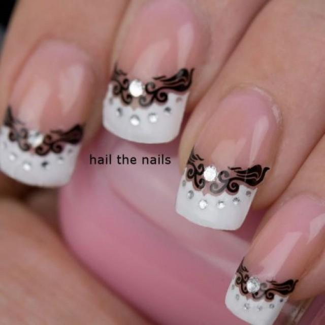 Black And White Wedding Nails 2061606 Weddbook