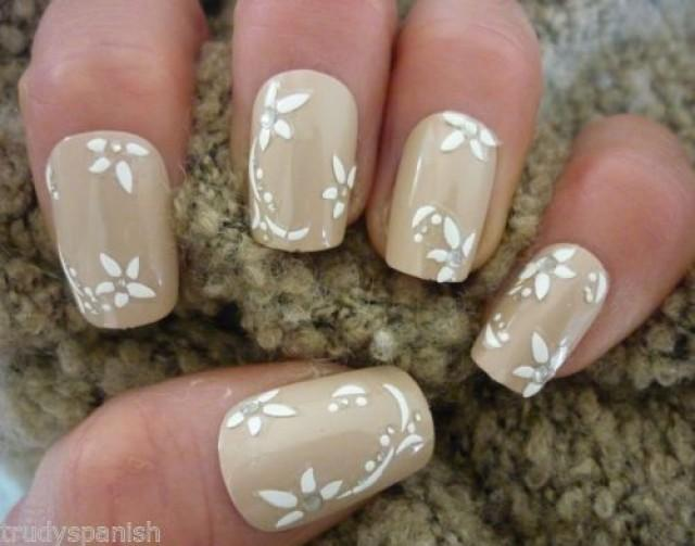 Details Über 3D Nail Art-Spitze-Aufkleber Decals Weiß Vintage Strass ...