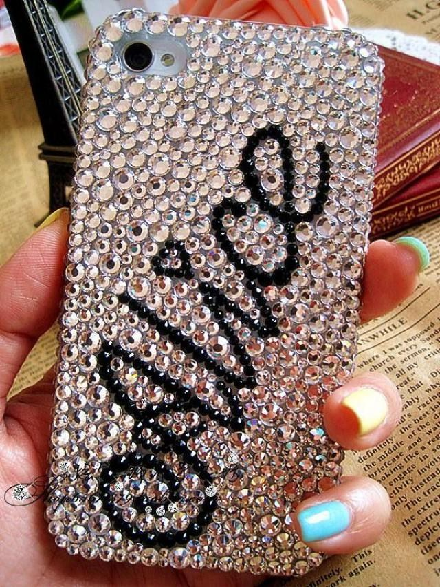 Personalized Name Rhinestone Crystals Bling Iphone 4 4s 5