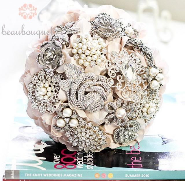 Brautstrauss Made Of Jeweled Broschen Mittlerer Grosse Bling