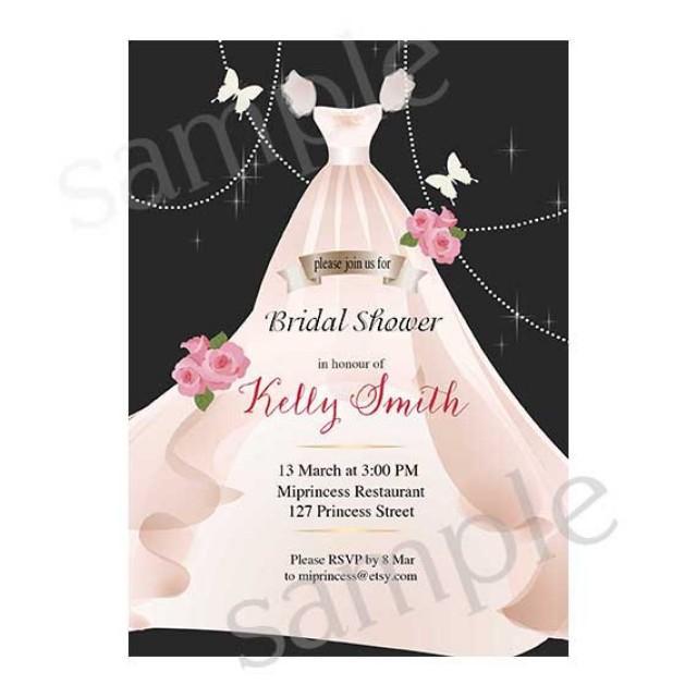 Bridal Shower Invitation Wedding Shower Invitation Shabby