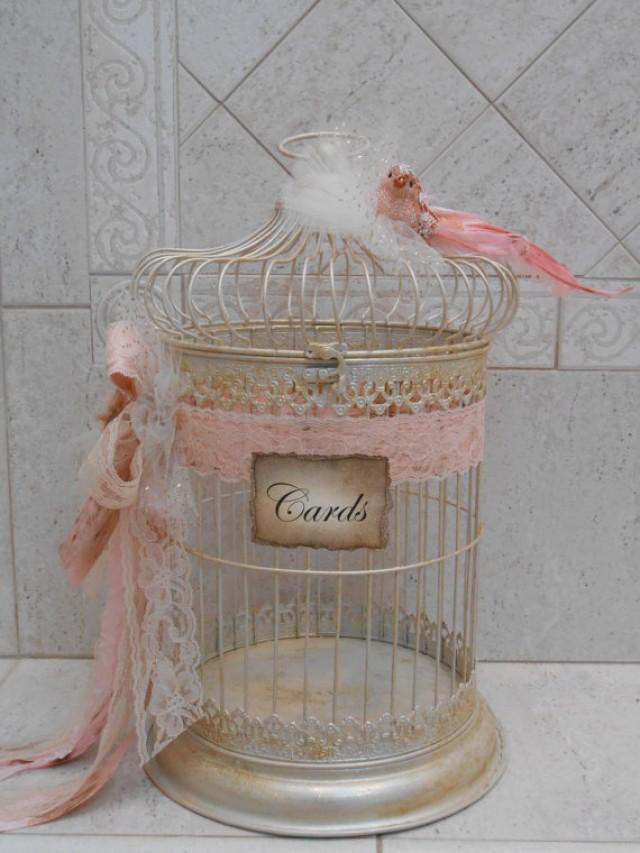 Birdcage Wedding Card Holder Shabby Birdcage Vintage Wedding