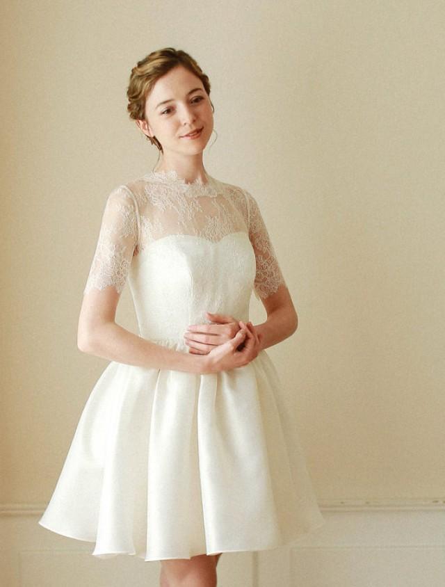 Wedding Bolero, Bridal Lace Top, Wedding Top, Lace Topper, Bridal ...