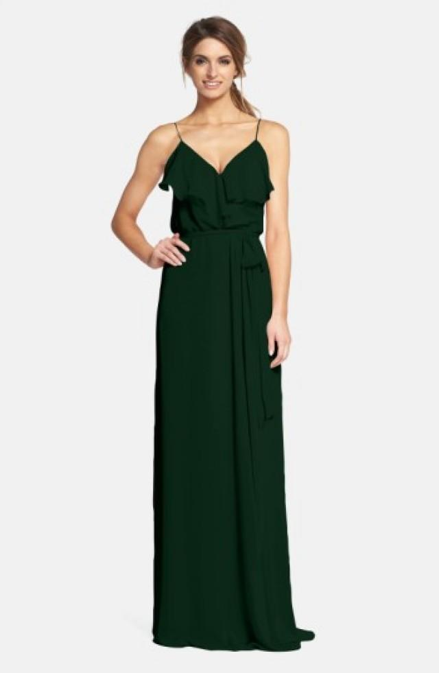 Nouvelle AMSALE \'Drew\' Ruffle Front Chiffon Gown #2774961 - Weddbook