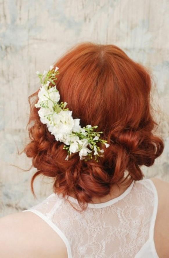 свадебные прически для рыжих волос фото