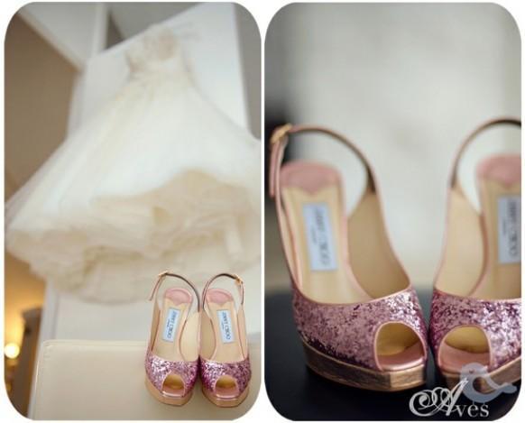 19e4a47d6 Jimmy Choo Wedding Shoes ♥ Chic and Comfortable Wedding Heels. Weddbook ♥  Pink ...
