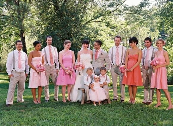 Что одеть на розовую свадьбу фото