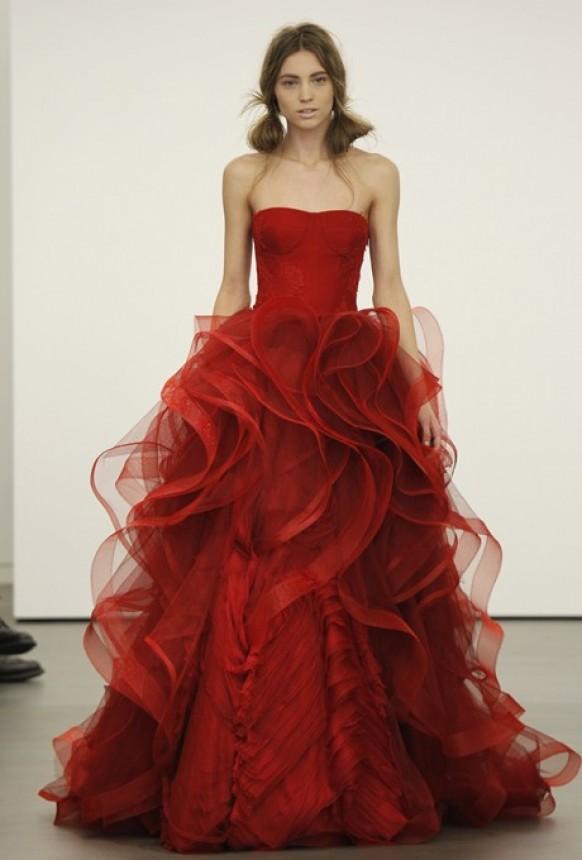Rouge sexy demoiselle d 39 honneur robe la conception for Vera wang robes de mariage d hiver