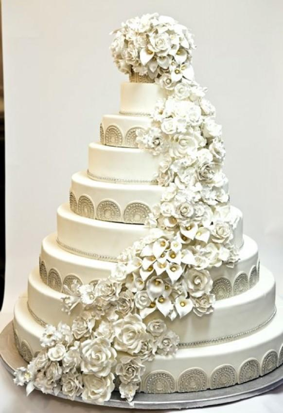Hand Painted Wedding Cakes ♥ Wedding Cake Design #840297 - Weddbook
